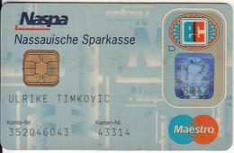 GERMANY - Nassauische Sparkasse Bank(Naspa)(reverse DSV), Eurocheque, 05/99, Used - Tarjetas De Crédito (caducidad Min 10 Años)