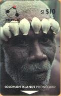 Solomon Island - SOL-05A, GPT, 02SIC, Man Of Turarana (Letter B), 10 SI$, 1993, Used - Salomon