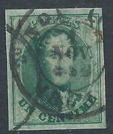 BELGIQUE BELGIE - 1861 - YT N°9 - 1 Centime Vert - Non Dentelé - Oblitéré - TTB Etat - Belles Marges - 1858-1862 Medaillen (9/12)