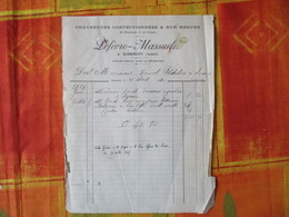 RIBEMONT AISNE LEFEVRE-MASSUELLE CHAUSSURES CONFECTIONNEES & SUR MESURE FACTURE DU 21 AOUT 1920 - France