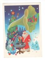 03350 Soviet Russia USSR Santa Claus Ded Moroz Christmas Tree Gramophone Snowman - Anno Nuovo
