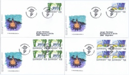 Denmark 2007; Europa -  CEPT; Scouting; Set Of 2 In Single And Block Of 4 On FDC (Foghs Cover) - 2007