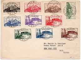 Fezzan : N° 28 à 37 Sur Lettre Philatélique De 1950 Pour Les Etats-Unis - Fezzan (1943-1951)