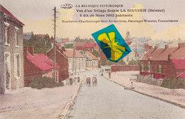 LA BOUVERIE - Vue D'un Village Borain - Carte Colorée Et Circulé 03-11-15 (sous Occupation Allemande) - Frameries