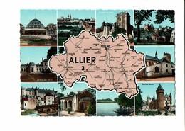 03 - ALLIER - Multivues, Carte Du Département  - 1585 - France