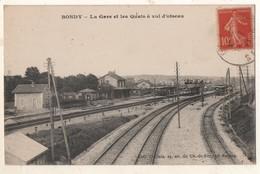 Bondy La Gare Et Les Quais à Vol D Oiseau - Bondy