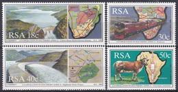 Südafrika South Africa RSA 1990 Zusammenarbeit Cooperation Stausee Eisenbahn Railway Rinder Cattles, Mi. 789-2 ** - Neufs