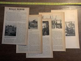 1903 ERNEST RENAN ARMAND DAYOT TREGUIER PERROS GUIREC ILE BREHAT - Vieux Papiers