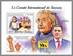 TOGO 2019 MNH Albert Einstein International Rescue Committee IRC S/S - IMPERFORATED - DH2001 - Albert Einstein