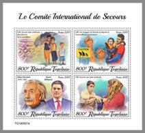 TOGO 2019 MNH Albert Einstein International Rescue Committee IRC M/S - IMPERFORATED - DH2001 - Albert Einstein