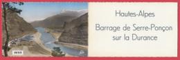 CP-05- Carte Triptyque Barrage De Serre-Ponçon - En 1955 Puis En 1959 Avec Carte Géographique  * 3 SCAN- - Francia