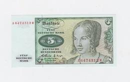5 Mark Du 2-1-1960  Neuf - [ 7] 1949-… : RFA - Rep. Fed. De Alemania