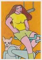 Cpm 1741/480 ERGON - Femme Sur Vélo D'appartement - Salle De Sport - Cyclisme - Bicycle - Cycle - Illustrateur - Ergon