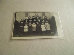 LE BRETHON PHOTO CARTE GROUPE SCOLAIRE 1911 - France