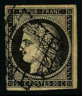 FRANCE - YT 3 - CERES IIe REPUBLIQUE - TIMBRE OBLITERE - 1849-1850 Cérès
