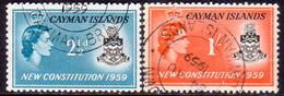 Cayman Islands 1959 SG #163-64 Compl.set Used New Constitution - Caimán (Islas)