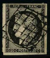 FRANCE - YT 3a - CERES IIe REPUBLIQUE - BLEU SUR BLANC - TIMBRE OBLITERE - 1849-1850 Cérès