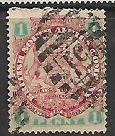 Rhodesia, B.S.A.Co., 1897, Arms, 1d,with Scarce BONC 851 (Tshiromo) - Rhodésie Du Sud (...-1964)