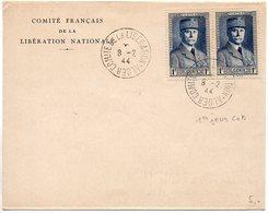Algérie : Lettre Oblitérée CaD 'Comité De La Libération Alger ' Du 8.2.44 (Premier Jour D'utilisation Du CaD) - Algeria (1924-1962)