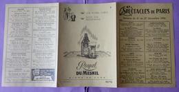 Publicite   Royal Dumesnil Biere De Luxe   - Publicite Issue Du Programme Spectacle De Paris 1956 - - Reclame