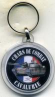 Porte-clé, Char De Combat,cavalerie 501é MOURMELON - Insigne & Ordelinten
