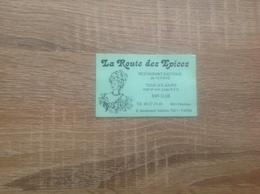 Ancienne Carte De Visite De Restaurant   La Route Des Epices   Paris 11eme - Cartoncini Da Visita