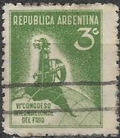 ARGENTINA 1932 Sixth International Refrigerating Congress - Refrigerating Plant - 3c - Green FU - Used Stamps