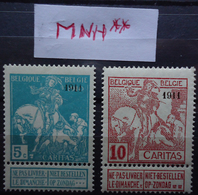 97/98 ** Sans Charnière - 1910-1911 Caritas