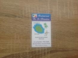 Carte De Visite De Restaurant     Restaurant De La Réunion   Paris 11eme - Cartoncini Da Visita