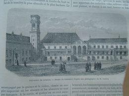 Coimbra - Universidad  - Portugal -    Gravure   -old Engraving 1861 TDM1861.1.299 - Estampes & Gravures