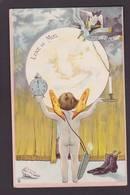 CPA Surréalisme Astronomie Angelot Lune Non Circulé Femme Girl Women - Astronomia