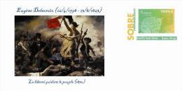 Spain 2013 - Eugène Delacroix (1798-1863)  - Special Prepaid Cover - Arte