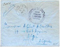 Algérie : Lettre (Mention PAR VALISE' D' Alger - F De 1943 (Alger F : Bureau Annexe Du Service Du Courrier Du Comité ... - Algeria (1924-1962)