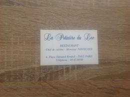 Ancienne Carte De Visite De Restaurant  La Potinière Du Lac  Paris 12eme - Cartoncini Da Visita