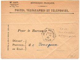 Algérie : CaD Hexagonal 'Jean Mermoz Oran' Du 1.1.1940 (Jour D'ouverture De L'agence Postale Jean Mermoz) - Argelia (1924-1962)