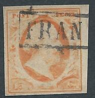 PAYS BAS - 1852 Guillaume III - YT N°3 - 15 C. Orange - Non Dentelé - Oblitéré - TB Etat - Belles Marges - Gebruikt