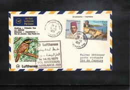 Morocco 1971 Lufthansa Inaugural Flight Casablanca - Rio De Janeiro - Marruecos (1956-...)