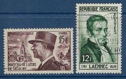 """FR YT 920 & 936 """" Personnalités """" 1952 Oblitéré - Francia"""