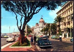 Nice Promenade Des Anglais Automobiles 1960 Renault Frégate Belge Dauphine VW  Citroen 2CV 11/04/1964 Ed Gieffe - Nice