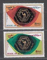 Kuwait - Correo 1972 Yvert 541/2 ** Mnh  Banco Nacional - Koweït