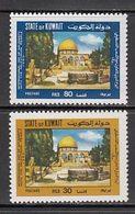 Kuwait - Correo 1980 Yvert 859/60 ** Mnh  Mezquita De Jerusalem - Kuwait