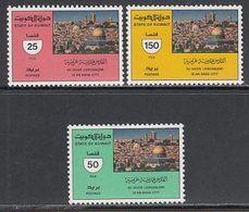 Kuwait - Correo 1987 Yvert 1108/10 ** Mnh  Jerusalem - Kuwait