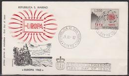 San Marino 1962 FDC Mi-Nr.749  Europa ( D3931 )günstige Versandkosten - FDC