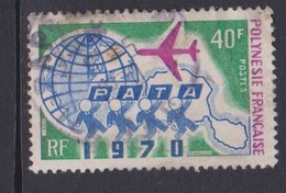 French Polynesia SC 259 1970 Pata Congress, 40f Globe, Plane,map, Used, Toned - Airplanes