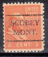 USA Precancel Vorausentwertung Preo, Locals Montana, Scobey 716 - United States