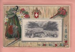 OLD POSTCARD - SWITZERLAND - SCHWEIZ - SUISSE -    ENGELBERG - HUNTING - EMBOSSED - OW Obwald