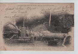 CBPNCPCF6/ Côte-d'Ivoire CP Scie Tronçonneuse à Vapeur Abidjan 1904 - Animée - Côte-d'Ivoire