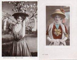 99Avi  Lot De 2 Cpa Même Femme Avec Robe Et Chapeau - Donne