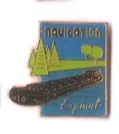 X240 Pin's Batelier Bateau Peniche Navigation Epinal Vosges Achat Immediat - Boats
