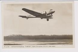 "Vintage Rppc KLM K.L.M Royal Dutch Airlines Douglas Dc-2 Named ""Toekan"" Aircraft - 1919-1938: Between Wars"